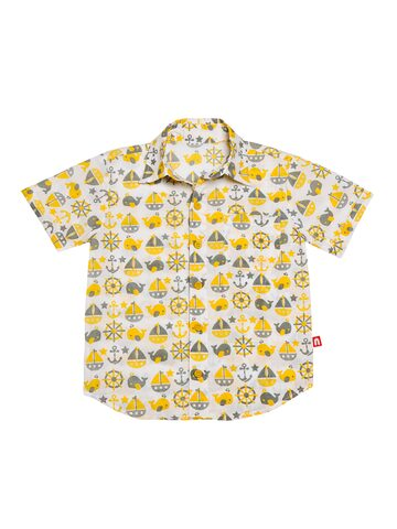 Nino Bambino Boys White Regular Fit Printed Casual Shirt Nino Bambino Shirts at myntra