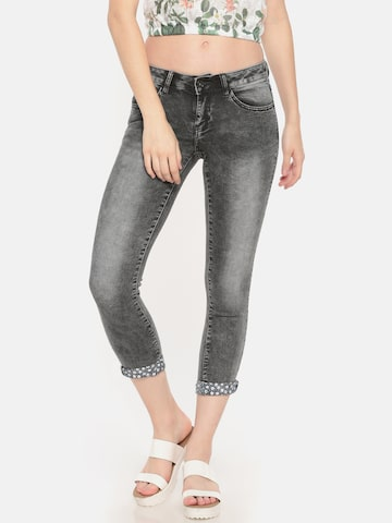 Deal Jeans Women Black Skinny Fit Mid-Rise Clean Look Stretchable Jeans Deal Jeans Jeans at myntra