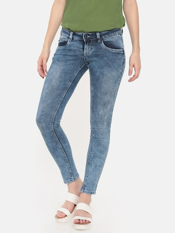 Deal Jeans Women Blue Skinny Fit Mid-Rise Clean Look Stretchable Jeans Deal Jeans Jeans at myntra