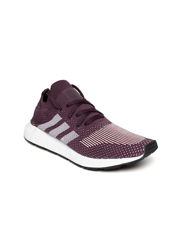 Adidas Originals Women Aubergine Swift Run PK Sneakers Adidas Originals Casual Shoes at myntra