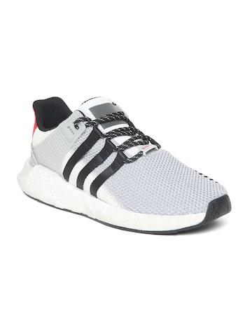 Adidas Originals Men Grey EQT Support 93/17 Woven Design Sneakers Adidas Originals Casual Shoes at myntra