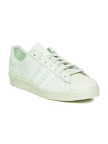 Adidas Originals Men Light Green Superstar 80S Leather Sneakers Adidas Originals Casual Shoes at myntra