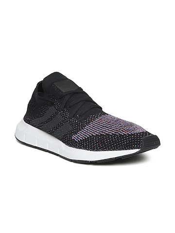 Adidas Originals Men Black Swift Run PK Woven Design Sneakers Adidas Originals Casual Shoes at myntra