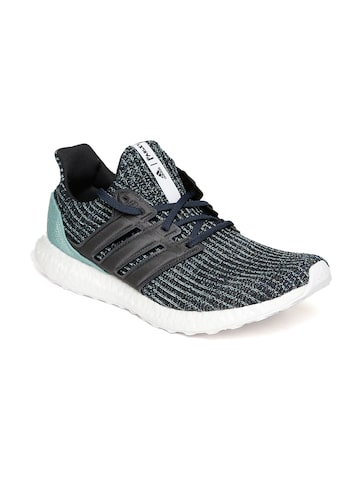 Adidas Men Blue & Black Ultraboost PARLEY Running Shoes Adidas Sports Shoes at myntra