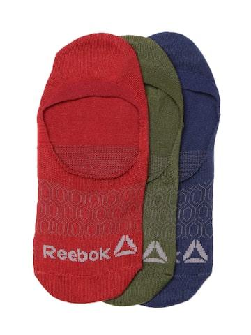 Reebok Women Set of 3 Self-Design Shoeliners Reebok Socks at myntra