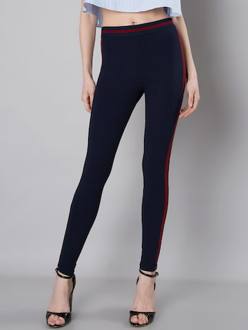 FabAlley Navy Blue Jeggings FabAlley Jeggings at myntra