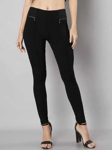 FabAlley Black Jeggings FabAlley Jeggings at myntra