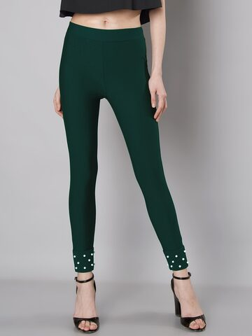 FabAlley Green Embellished Jeggings FabAlley Jeggings at myntra