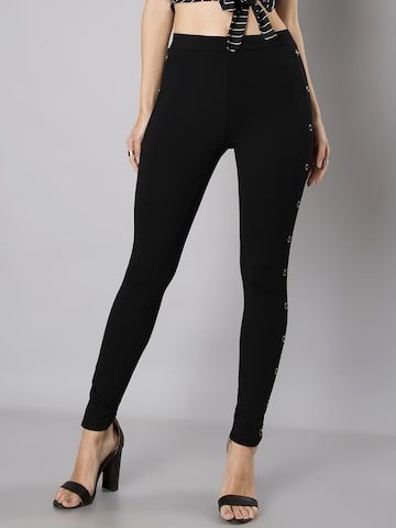 FabAlley Women Black Solid Jeggings FabAlley Jeggings at myntra