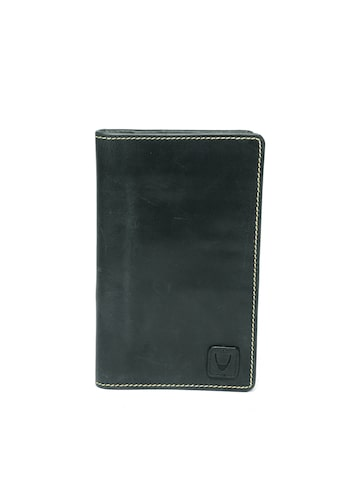 Hidesign Men Black Leather Two Fold Wallet Hidesign Wallets at myntra