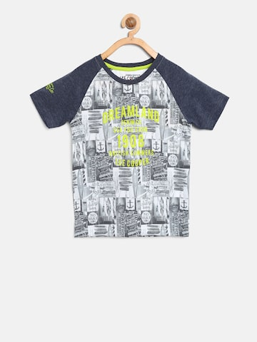 Lee Cooper Boys Grey Printed Round Neck T-shirt Lee Cooper Tshirts at myntra