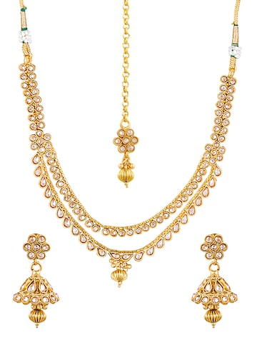Sia Ethnic Wear Gold Colour Plated Jewellery Set Sia Art Jewellery Jewellery Set at myntra