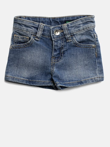 United Colors of Benetton Boys Navy Washed Regular Fit Denim Shorts United Colors of Benetton Shorts at myntra
