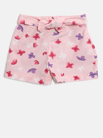 United Colors of Benetton Girls Pink & Purple Printed Regular Shorts United Colors of Benetton Shorts at myntra