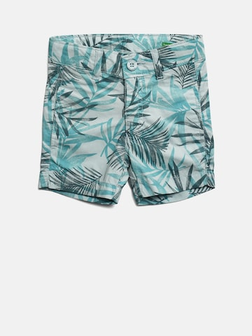 United Colors of Benetton Boys Blue Printed Regular Fit Shorts United Colors of Benetton Shorts at myntra