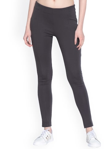 Gipsy Charcoal Grey Jeggings Gipsy Jeggings at myntra
