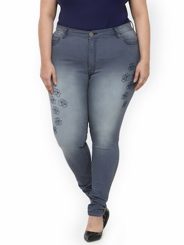 plusS Women Blue Regular Fit Mid Rise Clean Look Jeans plusS Jeans at myntra