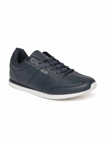 Flying Machine Men Navy Blue Suede Sneakers Flying Machine Casual Shoes at myntra