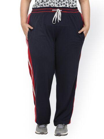 plusS Navy Blue Track Pants plusS Track Pants at myntra