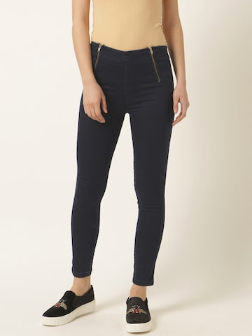 Miss Chase Women Navy Blue Skinny Fit Jeggings Miss Chase Jeggings at myntra