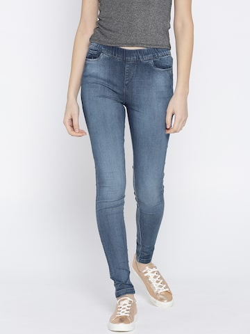 Xpose Women Blue Jeggings Xpose Jeggings at myntra