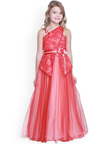 CUTECUMBER Girls Red Embellished Fit and Flare Dress CUTECUMBER Dresses at myntra