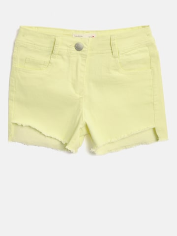 Tiny Girl Girls Yellow Solid Regular Fit Hot Pants Tiny Girl Shorts at myntra