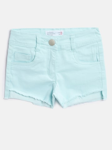 Tiny Girl Girls Blue Washed Regular Fit Denim Shorts Tiny Girl Shorts at myntra