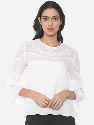 Pepe Jeans Women White Solid Top Pepe Jeans Tops at myntra