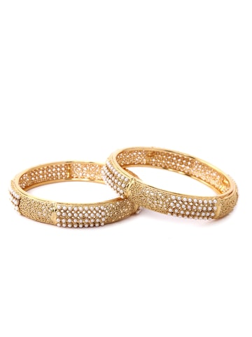 Rubans Set of 2 Gold Plated Bangle Rubans Bangle at myntra