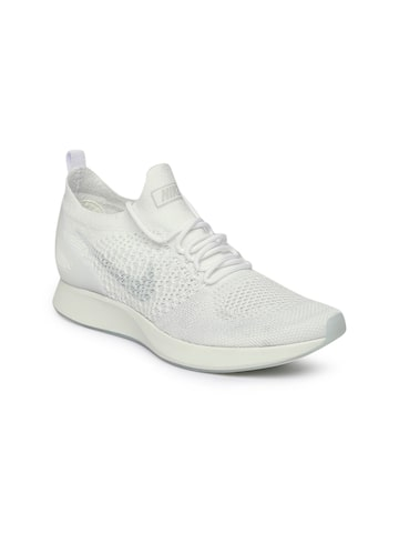 Nike Women White Air Zoom Mariah Flyknit Racer Sneakers Nike Casual Shoes at myntra