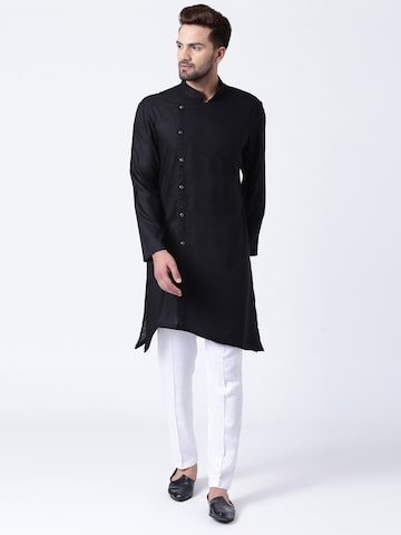 I Know Men Black Solid Straight Kurta I Know Kurtas at myntra