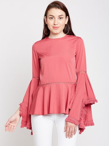 Popnetic Women Pink Solid Top Popnetic Tops at myntra