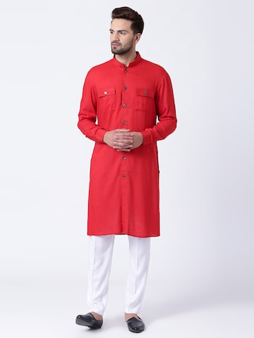 I Know Men Red Solid Straight Kurta I Know Kurtas at myntra