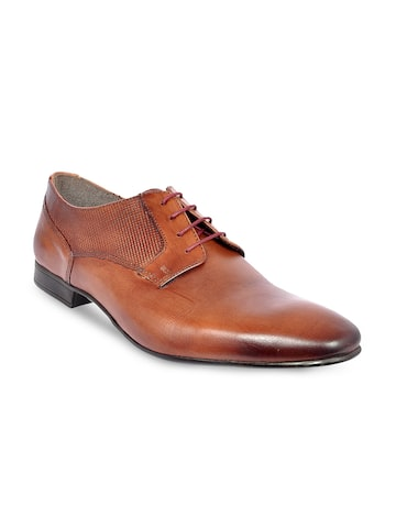 Allen Cooper Men Brown Leather Formal Derby's Allen Cooper Formal Shoes at myntra