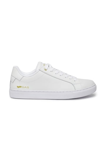 GAS Men White DNA Leather Sneakers GAS Casual Shoes at myntra