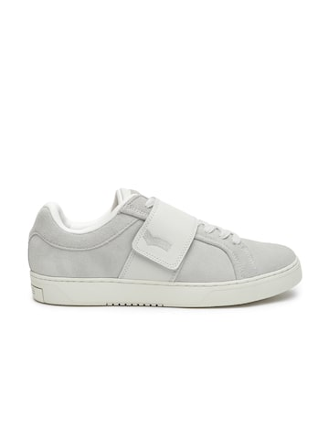 GAS Men Grey REX SD Suede Sneakers GAS Casual Shoes at myntra