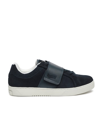 GAS Men Navy Blue REX SD Suede Sneakers GAS Casual Shoes at myntra