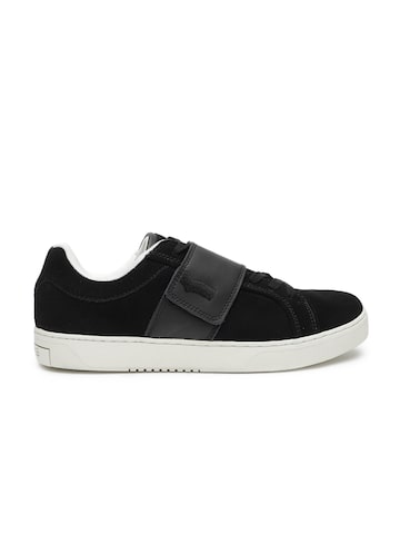 GAS Men Black REX SD Suede Sneakers GAS Casual Shoes at myntra