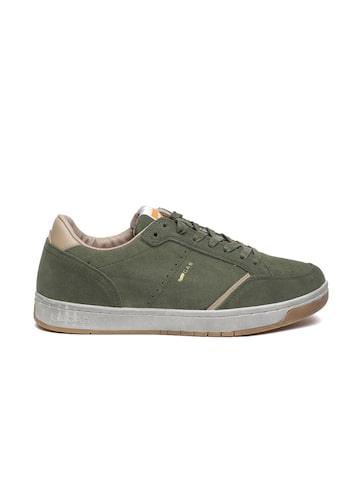 GAS Men Olive Green Suede RONNY SD Sneakers GAS Casual Shoes at myntra