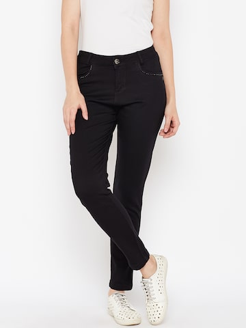 Xpose Women Black Regular Fit High-Rise Clean Look Stretchable Jeans Xpose Jeans at myntra