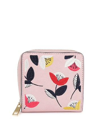 Accessorize Women Pink Embroidered Two Fold Wallet Accessorize Wallets at myntra