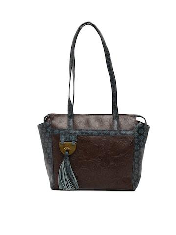 Holii Brown Textured Shoulder Bag Holii Handbags at myntra