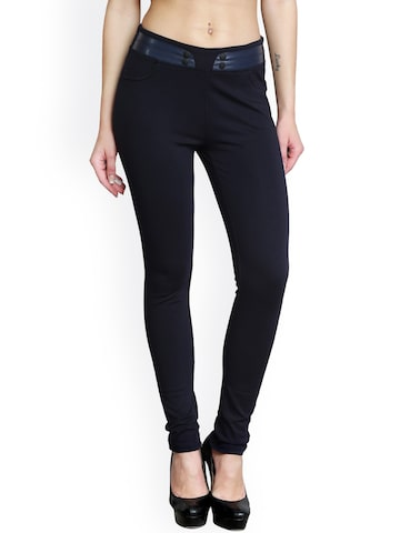Westwood Navy Blue Skinny Jeggings Westwood Jeggings at myntra