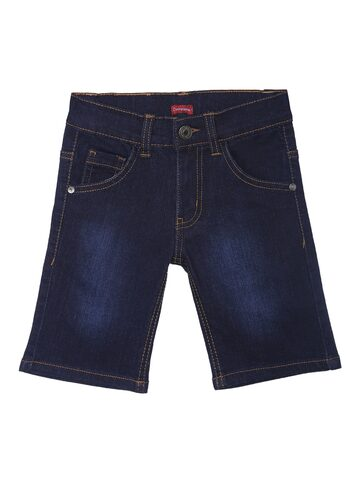 Campana Boys Blue Washed Regular Fit Denim Shorts Campana Shorts at myntra