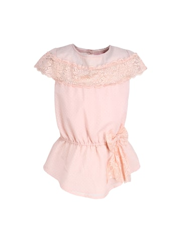 CUTECUMBER Girls Peach-Coloured Printed Top CUTECUMBER Tops at myntra