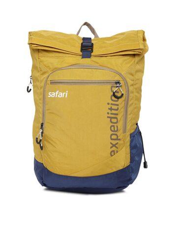 Safari Unisex Yellow & Blue Backpack Safari Backpacks at myntra