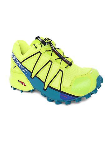 Salomon Men Fluorescent Green Speedcross 4 Running Shoes Salomon Sports Shoes at myntra