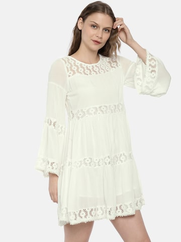 ONLY Women White Self Design A-Line Dress ONLY Dresses at myntra