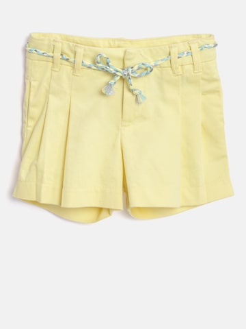 United Colors of Benetton Girls Yellow Solid Regular Fit Regular Shorts United Colors of Benetton Shorts at myntra